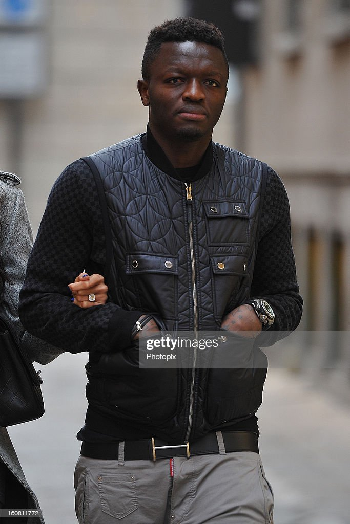 Sulley Muntari is seen on February 6, 2013 in Milan, Italy.
