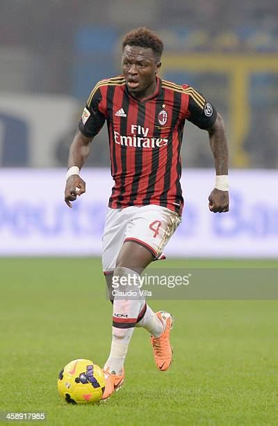 Sulley Muntari of AC Milan in action during the Serie A match between FC Internazionale Milano and AC Milan at San Siro Stadium on December 22 2013...