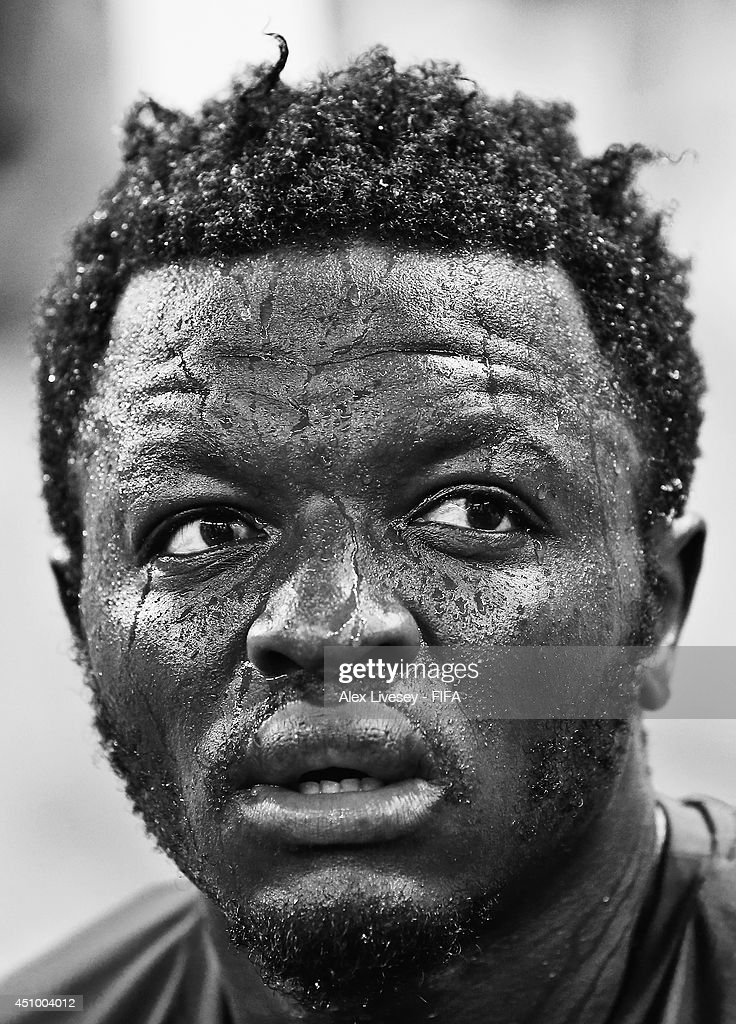 Sulley Muntari of Ghana looks on after the 2-2 draw in the 2014 FIFA World Cup Brazil Group G match between Germany and Ghana at Castelao on June 21, 2014 in Fortaleza, Brazil.
