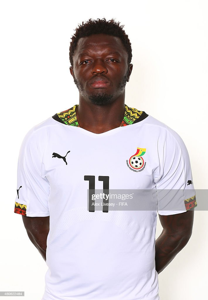 Sulley Muntari of Ghana poses during the official FIFA World Cup 2014 portrait session on June 11, 2014 in Maceio, Brazil.