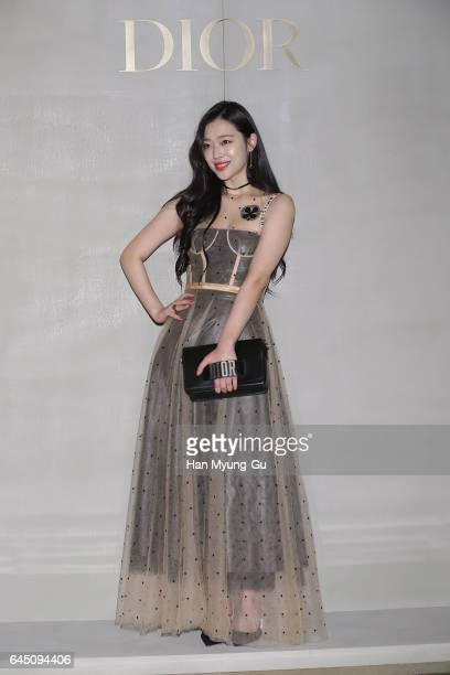 Sulli of girl group f attends the photocall for Dior 2017 S/S Collection at Shinsegae Department Store on February 24 2017 in Seoul South Korea