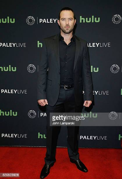 Sullivan Stapleton attends PaleyLive NY an evening with the cast creator of 'Blindspot' at The Paley Center for Media on April 11 2016 in New York...