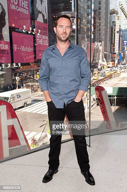 Sullivan Stapleton visits 'Extra' at their New York studios at HM in Times Square on September 18 2015 in New York City