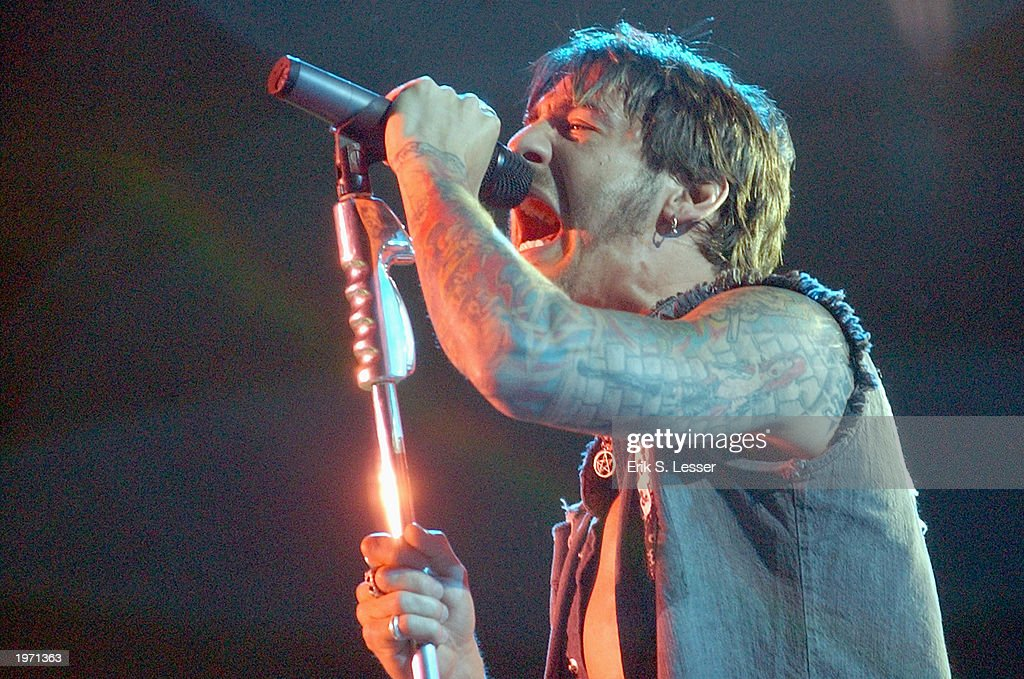 Sully Erna of the band Godsmack performs during the 10th Annual Music Midtown festival May 3, 2003 in Atlanta, Georgia. The three-day music festival features a variety of national acts.
