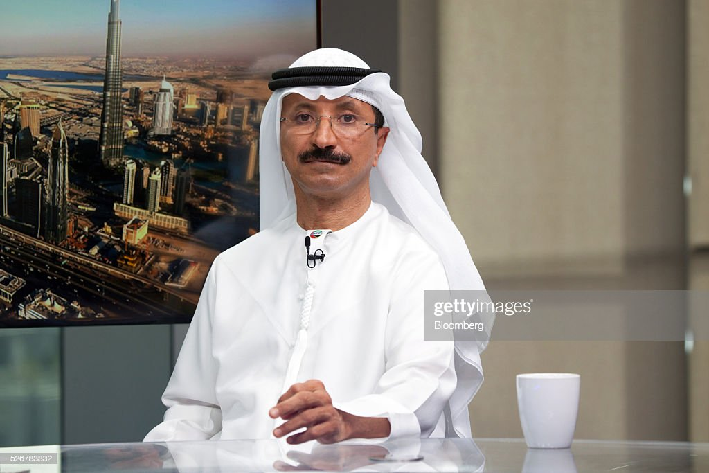 <a gi-track='captionPersonalityLinkClicked' href=/galleries/search?phrase=Sultan+Ahmed+Bin+Sulayem&family=editorial&specificpeople=2162633 ng-click='$event.stopPropagation()'>Sultan Ahmed Bin Sulayem</a>, chief executive officer of DP World Ltd., pauses during a Bloomberg Television interview in Dubai, United Arab Emirates, on Sunday, May 1, 2016. DP World, the port operator with terminals from China to the Netherlands, expects a return to growth in some European markets after a period of stagnation and said its avoided a hard landing in China. Photographer: Razan Alzayani/Bloomberg via Getty Images