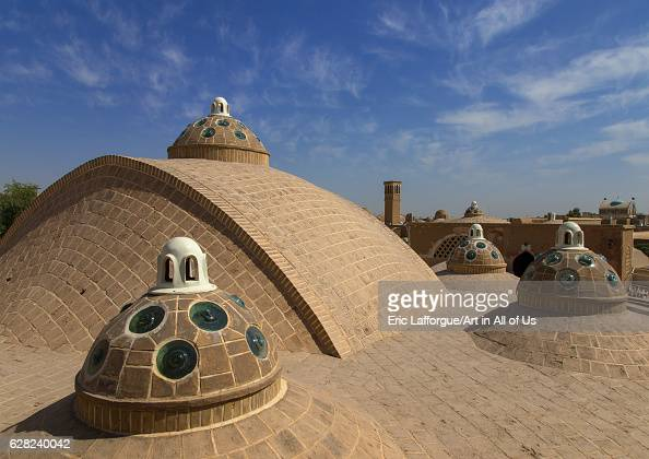 Sultan Amir Ahmad bathhouse roof and terrace Isfahan Province Kashan Iran on October 9 2016 in Kashan Iran
