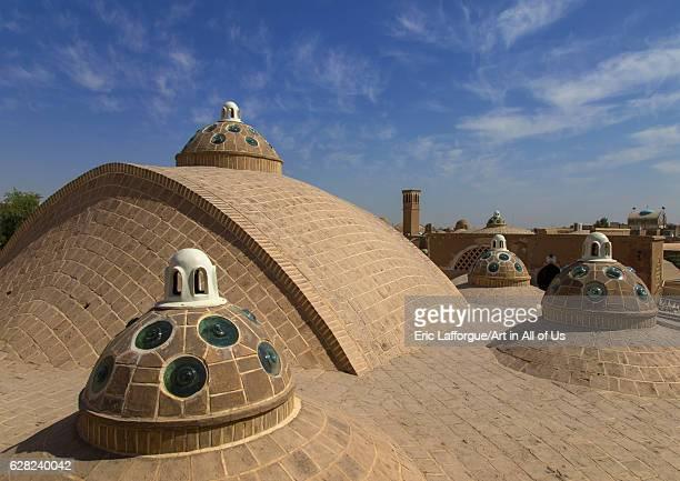 Sultan Amir Ahmad bathhouse roof and terrace Isfahan Province Kashan Iran on October 9 2016 in Kashan Iran