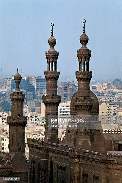 Sultan Hassan and AlRifa'i mosques' minarets Cairo Egypt