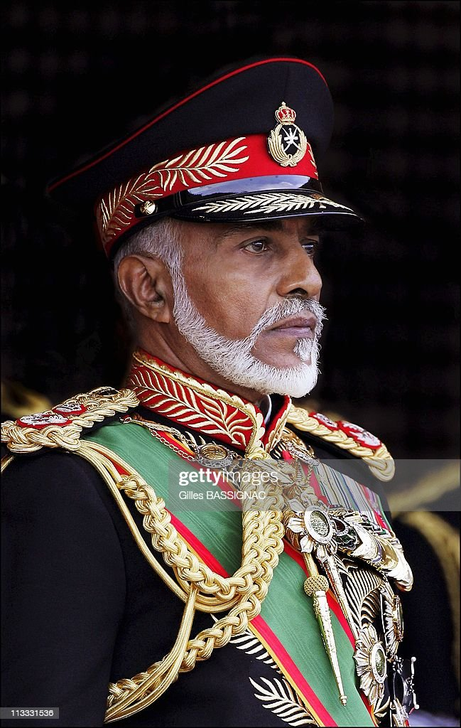 Sultan Of Oman Qaboos Bin Said Presides The Military Parade At The Al Fateh Stadium For The National Day 35Th Anniversary - On November 18Th, 2005 - In Mascate (City), Oman - Here, Sultan Qaboos Bin Said