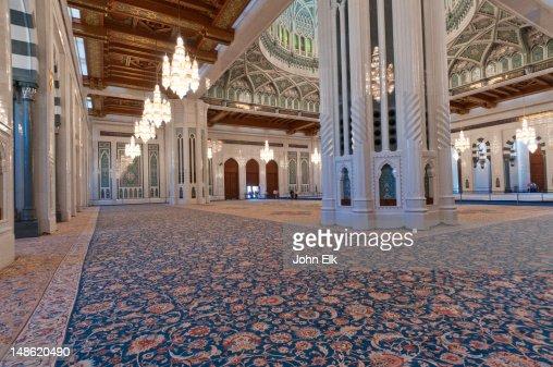 Sultan Qaboos Grand Mosque Prayer Hall Stock Photo Getty