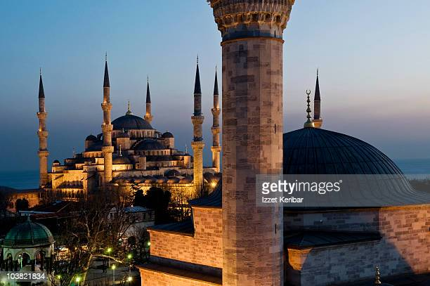 Sultanahmet Mosque with Small Mosque in foreground.