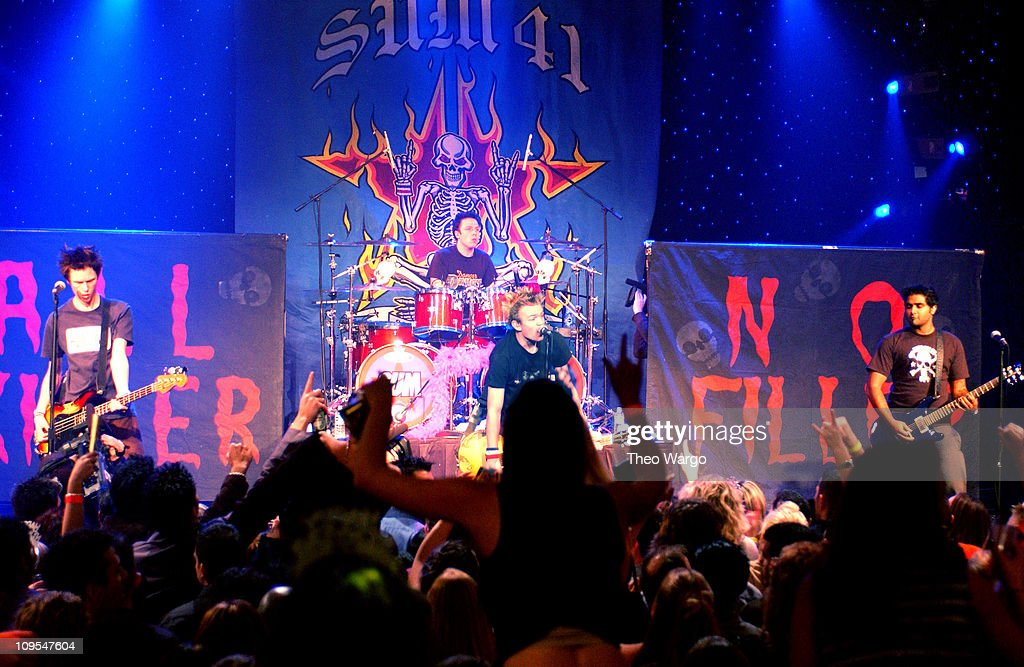 Sum 41 during MTV 2002 New Year's Party Live from New York City's Times Square Show at MTV Studios in New York City New York United States