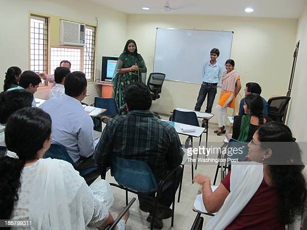 Suman Sayani a counselor who specializes on gender issues is training a group of software engineers at Hyderabadbased Nacre Software Services in...