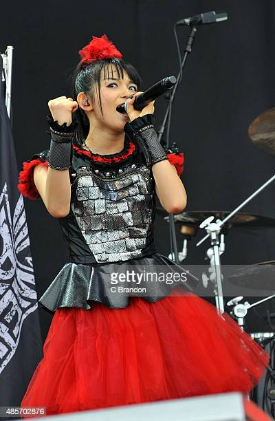 Sumetal of Baby Metal performs on stage during the 2nd Day of the Reading Festival at Richfield Avenue on August 29 2015 in Reading England