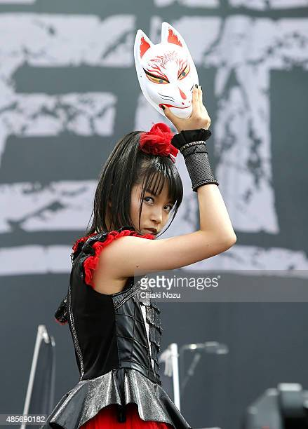 Sumetal of Babymetal performs on Day 2 of the Reading Festival at Richfield Avenue on August 29 2015 in Reading England