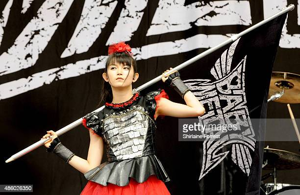 Sumetal of Babymetal performs on day 3 of The Leeds Festival at Bramham Park on August 30 2015 in Leeds England
