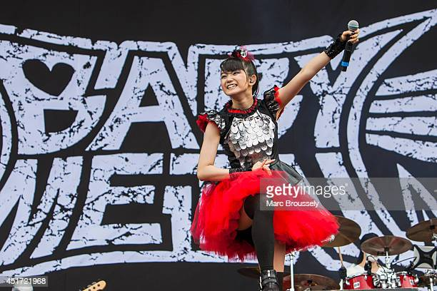 Sumetal of Babymetal performs on stage at Sonisphere at Knebworth Park on July 5 2014 in Knebworth United Kingdom