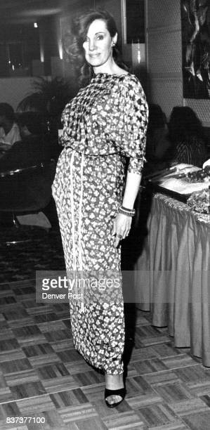 Sumie Novak's floral silk chemise for evening with dolman sleeves Credit Denver Post Inc