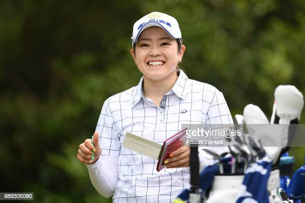 Sumika Nakasone of Japan smiles during the final round of the Resorttrust Ladies at the Oakmont Golf Club on May 28 2017 in Yamazoe Japan
