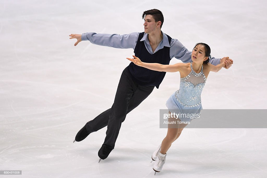 Sumire Suto and Francis Boudereau-Audet of Canada compete in the Pair free skating during the Japan Figure Skating Championships 2016 on December 23, 2016 in Kadoma, Japan.