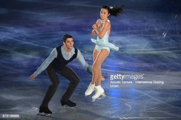 Sumire Suto and Francis BoudreauAudet of Japan perform in the gala exhibition during the ISU Grand Prix of Figure Skating at Osaka municipal central...
