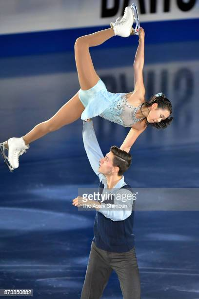 Sumire Suto and Francis BoudreauAudet of Japan perform in the gala exhibition during day three of the ISU Grand Prix of Figure Skating NHK Trophy at...
