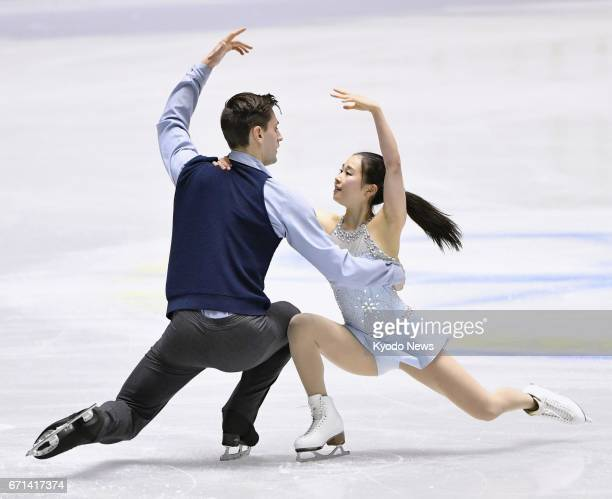 Sumire Suto and Francis BoudrewuAudet perform their pairs free program at the International Team Trophy in Tokyo on April 22 2017 ==Kyodo
