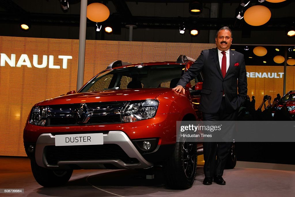 Sumit Sawhney, country CEO and MD, Renault India during the launch of new Renault Duster at the Auto Expo 2016, on February 4, 2016 in Greater Noida, India. The 13th edition of the Delhi Auto Expo kicked off at the India Expo Mart (IEM) in Greater Noida with brands from over 20 countries showcasing various cars, bikes and automobile trends. India, the worlds fifth biggest auto market, has an extremely low number of cars for its 1.2 billion people, with industry figures suggesting there are as few as 16 per 1,000 people