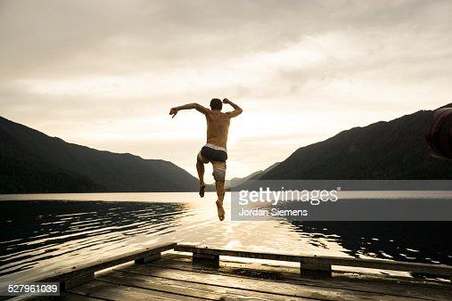 Summer at a lake.