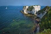 Old Harry Rocks landscape on the South coast of England - Dorset.