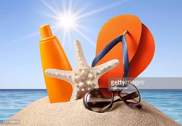 Summer at Sea. Beach accessories.