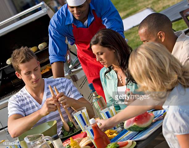 Summer Barbecue with Friends