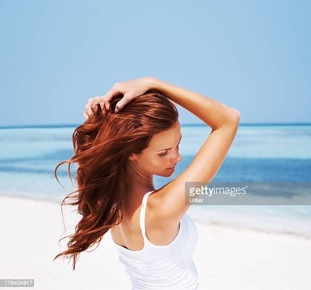 Sommer-beauty mit strahlende Schutz für Haut und Haar