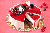 Summer berries cake
