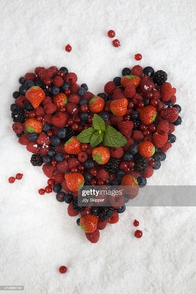 Summer Berry Heart : Stock Photo