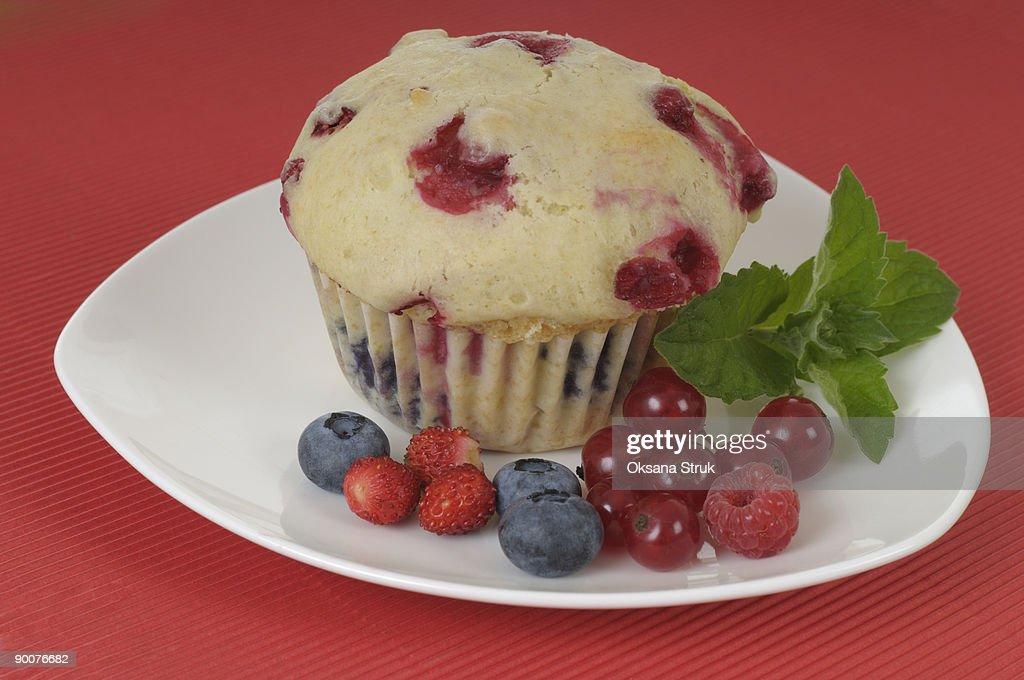 Summer Berry Muffins : Stock Photo