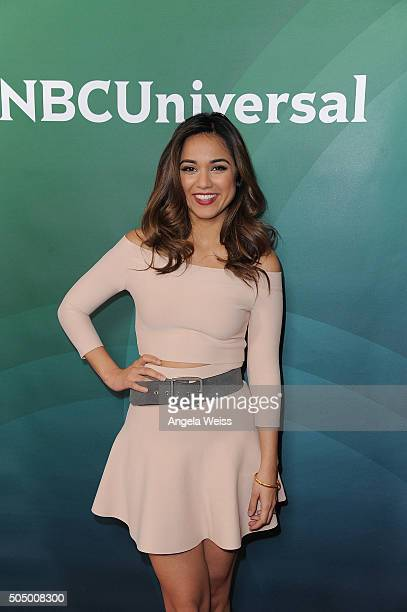Summer Bishil arrives at the 2016 Winter TCA Tour NBCUniversal Press Tour Day 2 at Langham Hotel on January 14 2016 in Pasadena California