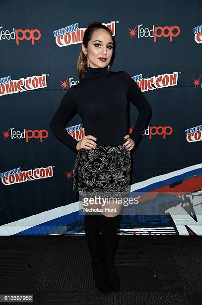 Summer Bishil attends Syfy the Magicians panel during the 2016 New York Comic Con on October 8 2016 in New York City