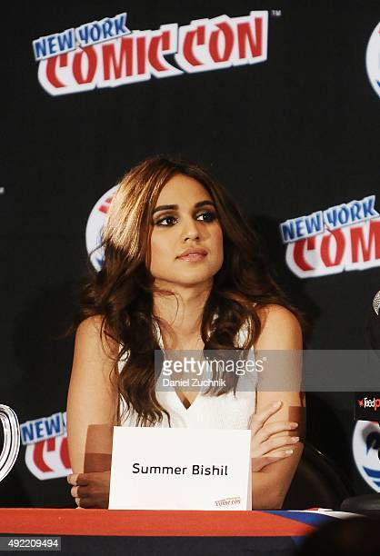 Summer Bishil attends 'The Magicians' panel during New York ComicCon 2015 at The Jacob K Javits Convention Center on October 10 2015 in New York City