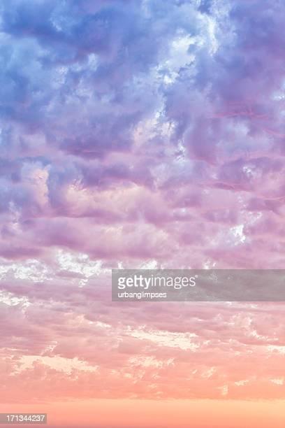 Summer Cloudscape at Sunset