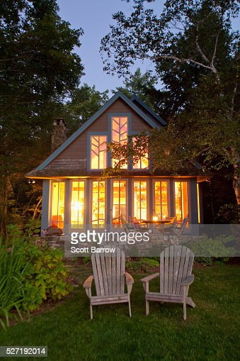 Summer cottage at twilight : Stock Photo