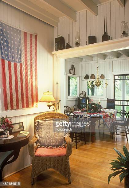 Summer country home dining area