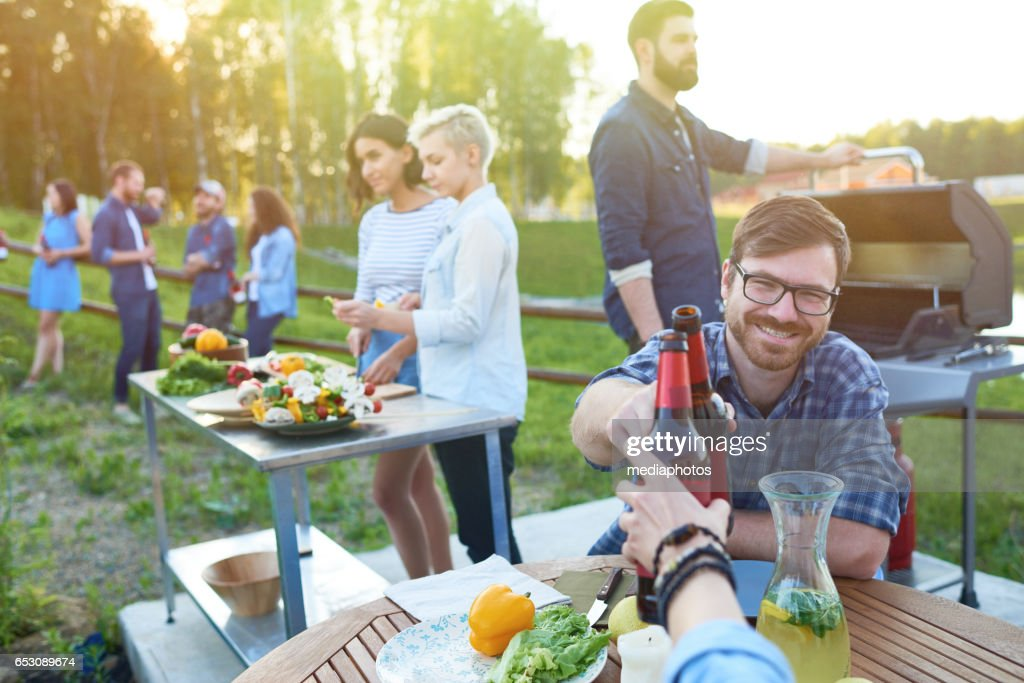 Summer countryside party : Stock Photo