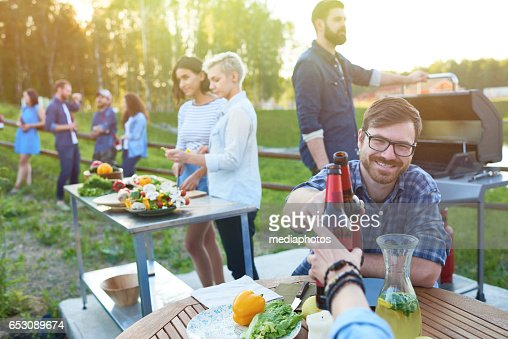 Summer countryside party : Bildbanksbilder