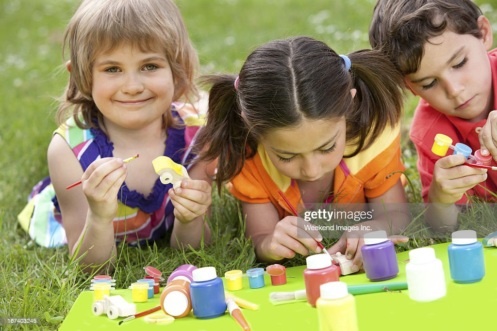 Summer creative activity : Stock Photo