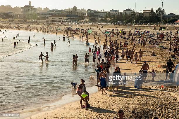 Summer crowds Bondi