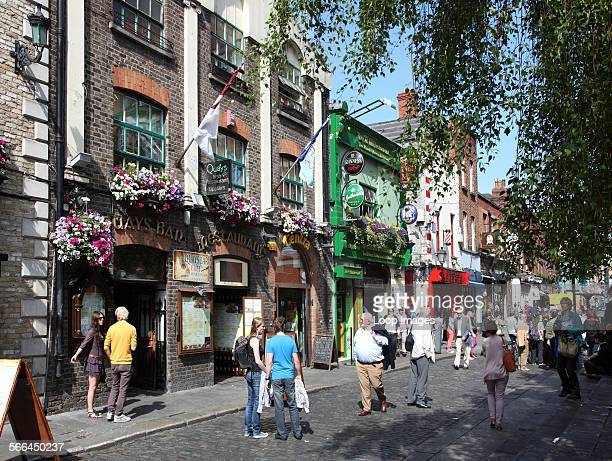 A summer day on Essex Street in Dublin's Left Bank quarter