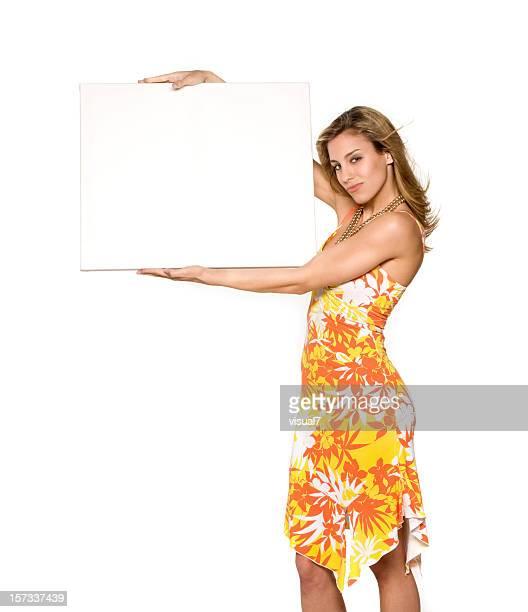 Menina Vestido de Verão, painel publicitário