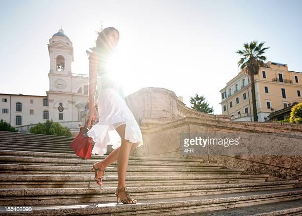 サマーファッション、スペイン階段