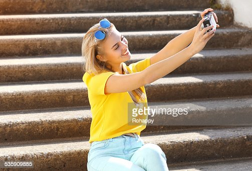 Summer, fashion, technology and people concept - lifestyle photo : Stock Photo